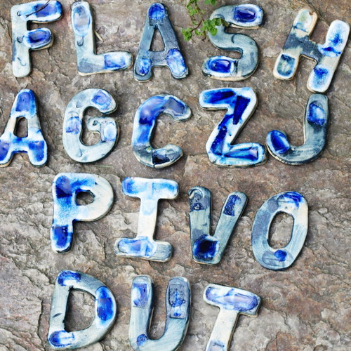 Keramická písmenka - složte si nápis