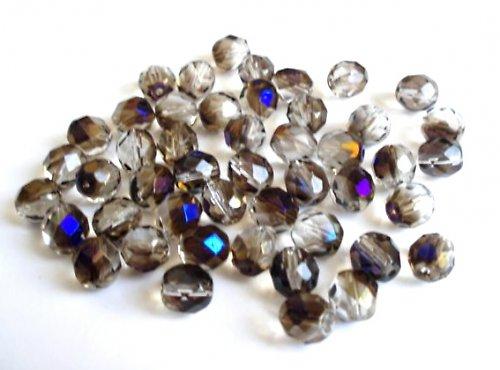 Broušená kulička krystal azuro 8mm