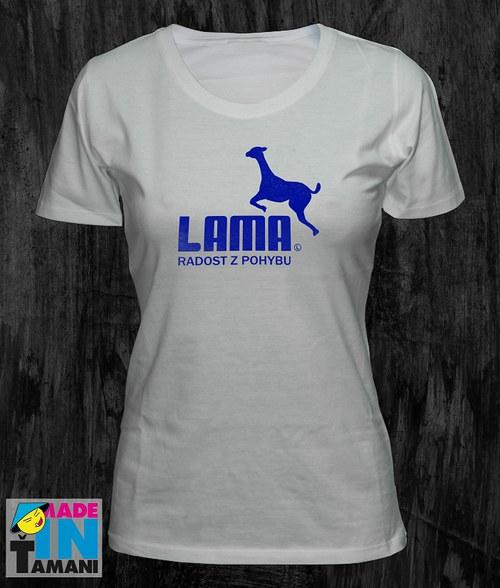 Dámské bílé tričko s Lamou