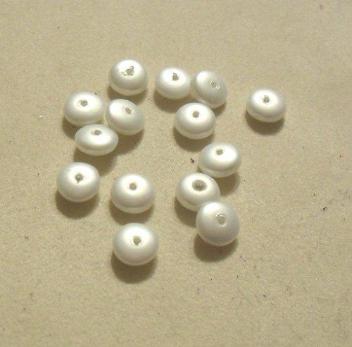 voskové bílé matové placičky 6mm 50ks