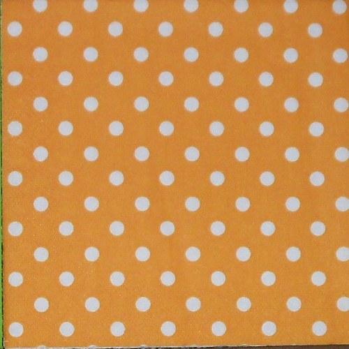 Bílé puntíky na oranžové