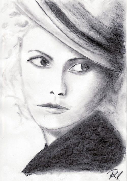 Portrét v klobouku