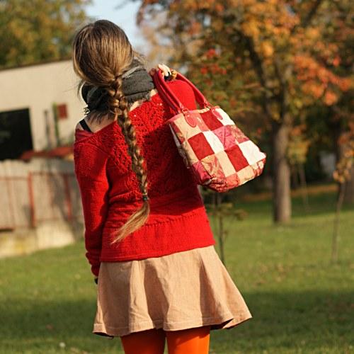 Sešívaná radost... podzimní kabelka tak trochu BIO