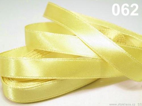 Stuha saténová š.6mm žlutá světlá
