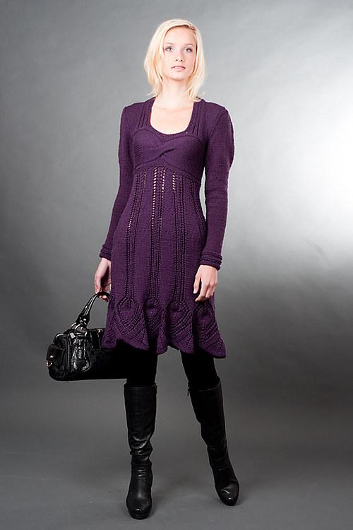 Popis - návod na pletené šaty Violette