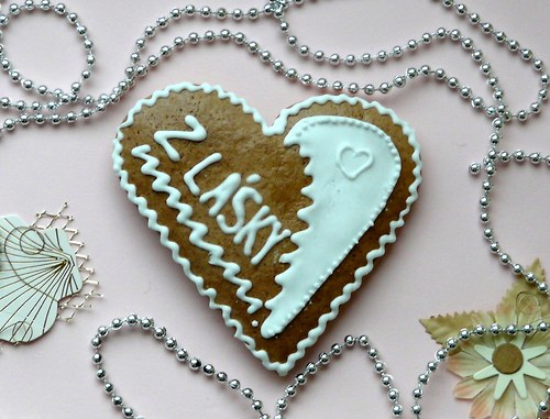 """Valentinské srdce s nápisem \""""Z lásky\"""""""