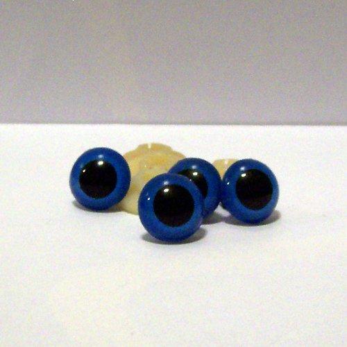 Bezpečnostní oči - modré, 16 mm