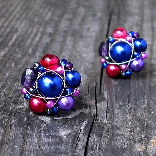 Náušničky Blueberries & Cranberries II...