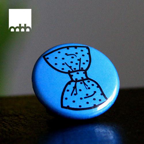 Placka Cute bow - modrá
