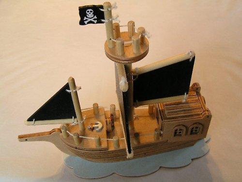 Pirátska loď - drevená skladačka pre deti