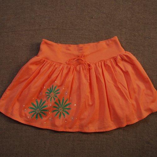 Letní oranžová sukýnka - SLEVA z 399,- Kč