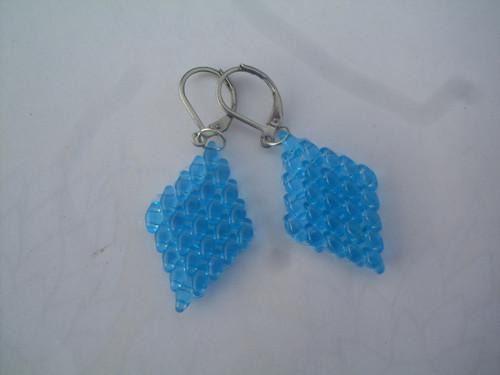 naušnice-kosočtverečky-modré