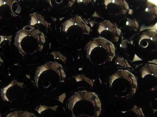 Černé korálky, 6 mm