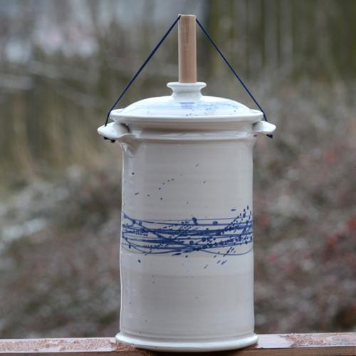 Kvašák velký rovný 4l - Vodní víry (lesk)