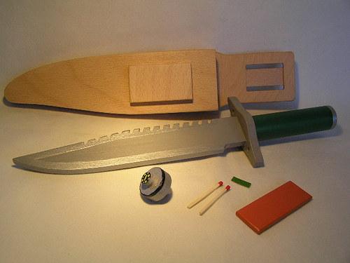 Dřevěný nůž na hraní - pro všechny malé vojáky