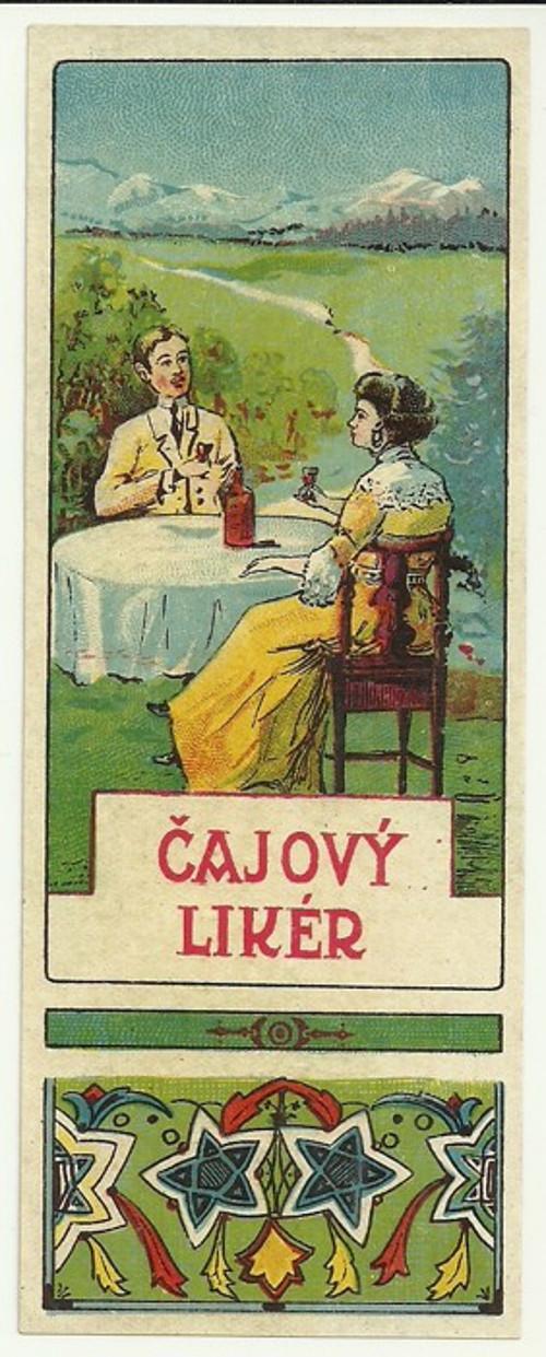 Etiketa Čajový likér