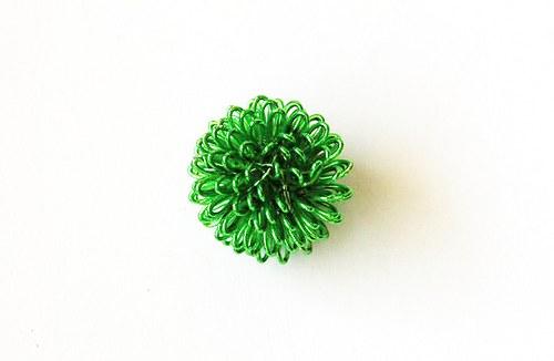 Kulička z drátu - zelená
