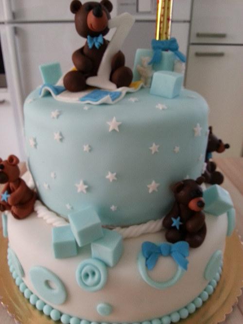 Medvídkový dort k 1. narozeninám.......
