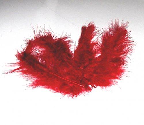 Peříčka - pštrosí, 4 ks, bordo