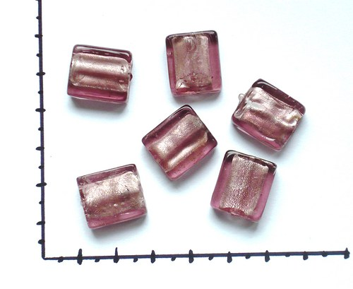Korálky skleněné fialová, 2ks