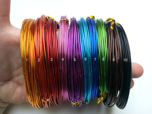 Drát hliníkový 1,5 mm, návin 6 m- 10 barev