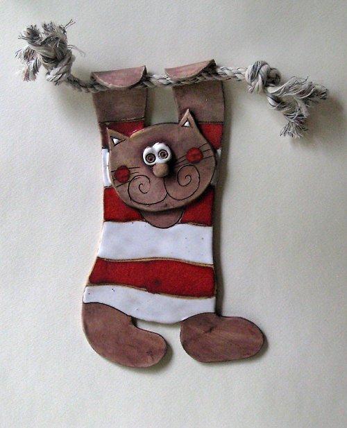 Kočka na provaze