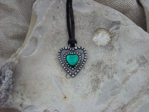 Tepané srdce zelené