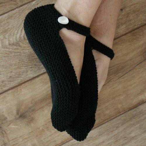 Ručně pletené baleríny z MERINO vlny