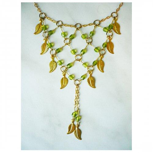 Zlaté lístky - náhrdelník