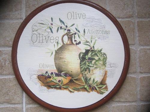 Dřevěný obrázek 25 cm