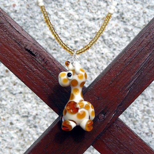 Náhrdelník žirafa - vinutá perle