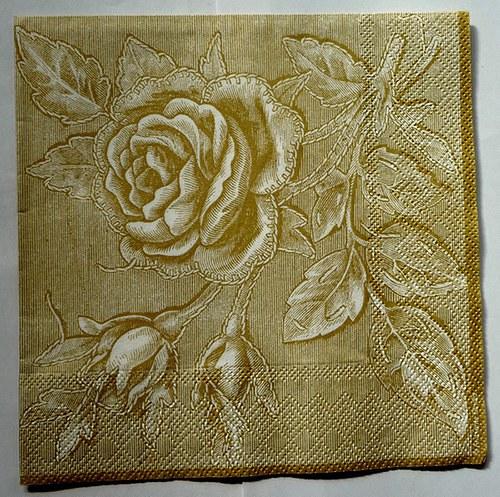 Ubrousek 33x33 - vintage růže