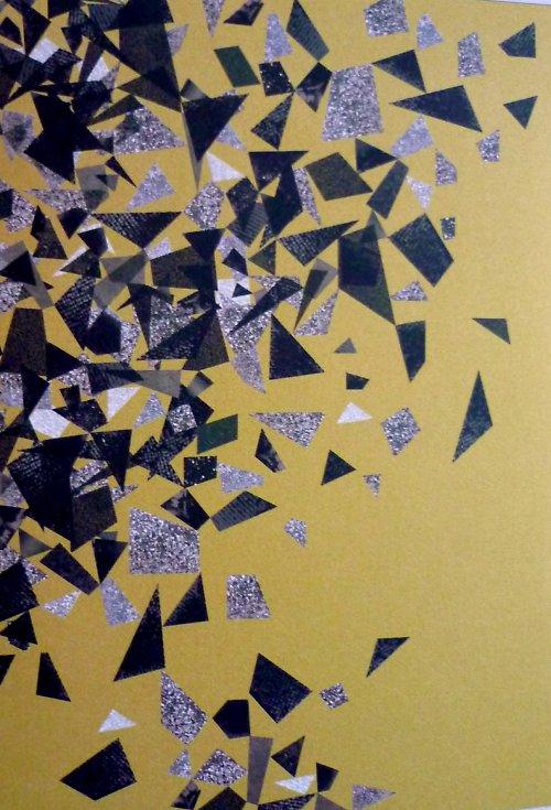 Papír A4 Black Fragments - kol Třpytivá Elegance