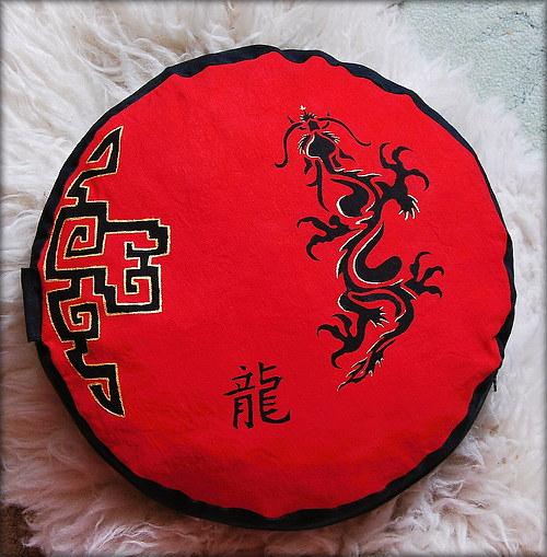 """Meditační polštář \""""Čínský drak\"""""""