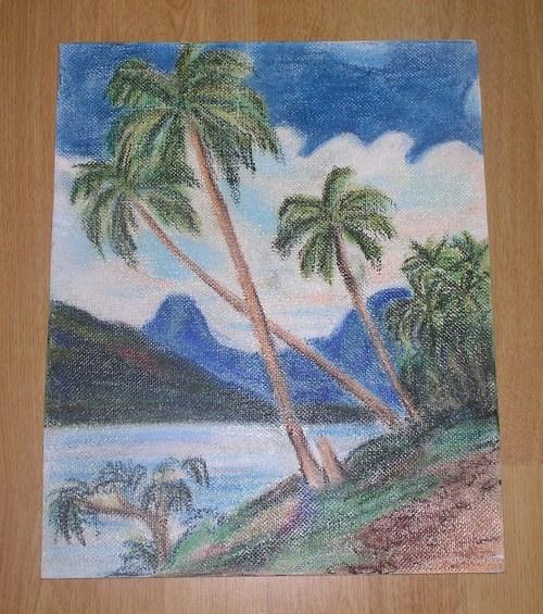 Rajské palmy-malba křídou