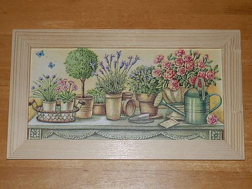 Obrázek Zátiší květiny a konev