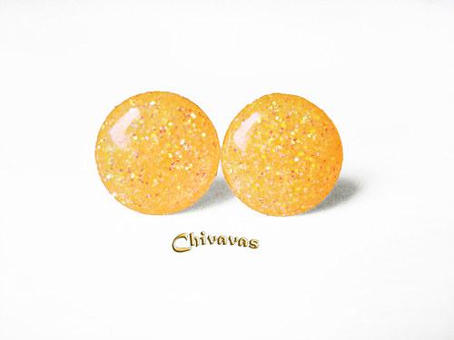 Lentilky XL Oranžovožluťounce Třpytivé