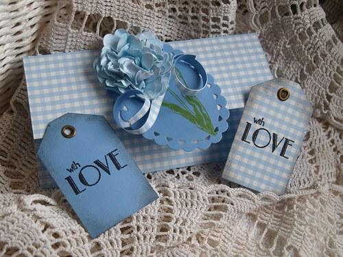 Romantická darovací obálka a dvě přáníčka
