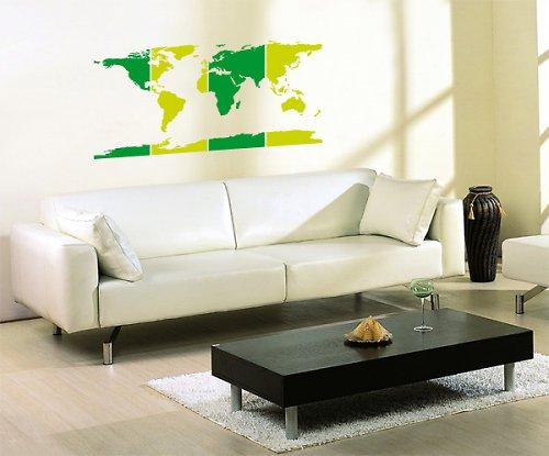 Mapa světa - samolepka na zeď