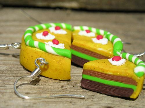 Sladké dortíky - náušnice