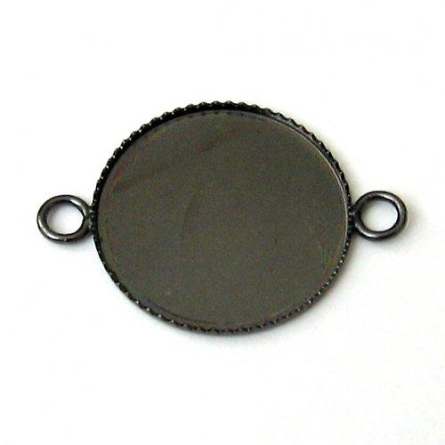 Lůžko kruh - 2 oka - gunmetal
