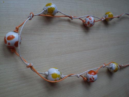 Náhrdelník oranžovožlutí dalmatínci