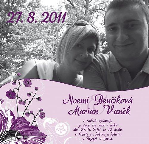 Svatební oznámení - Foto III.