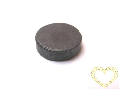 Šedý kulatý magnet - Ø 16 mm - sada 5 kusů
