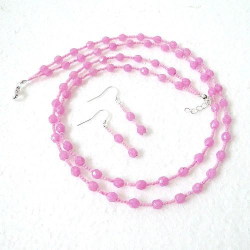 Růžový komplet - SLEVA!!!