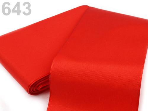 Taftová stuha 108mm (10m) - červená šarlatová