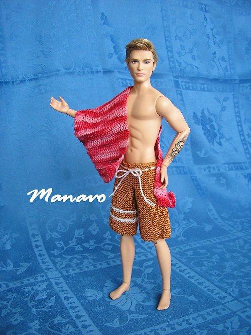 SLEVA 20% Béžové plavky s osuškou pro Kena
