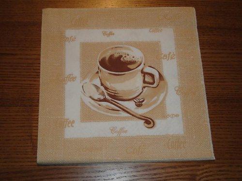 Ubrousek na decoupage - kávička