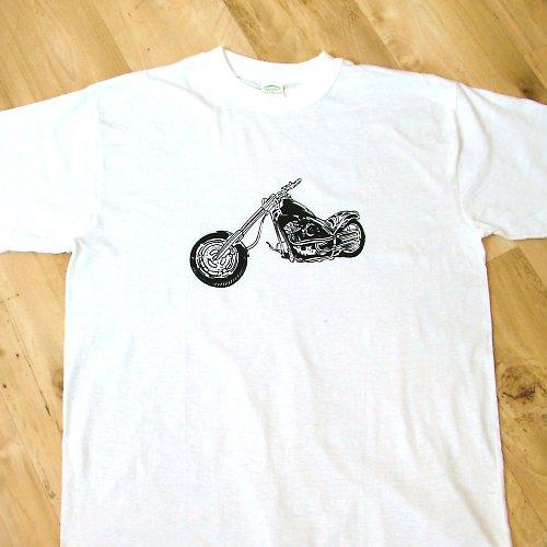 Motorkářské tričko v bílé