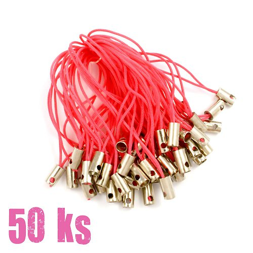 Tmavě růžová poutka (sv.červená)- 50 ks
